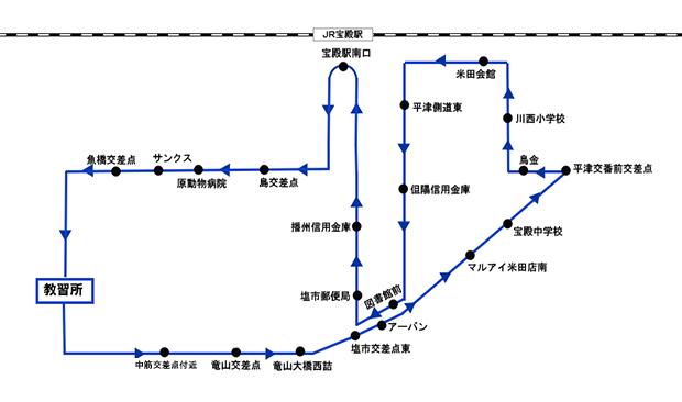 米田方面 路線図